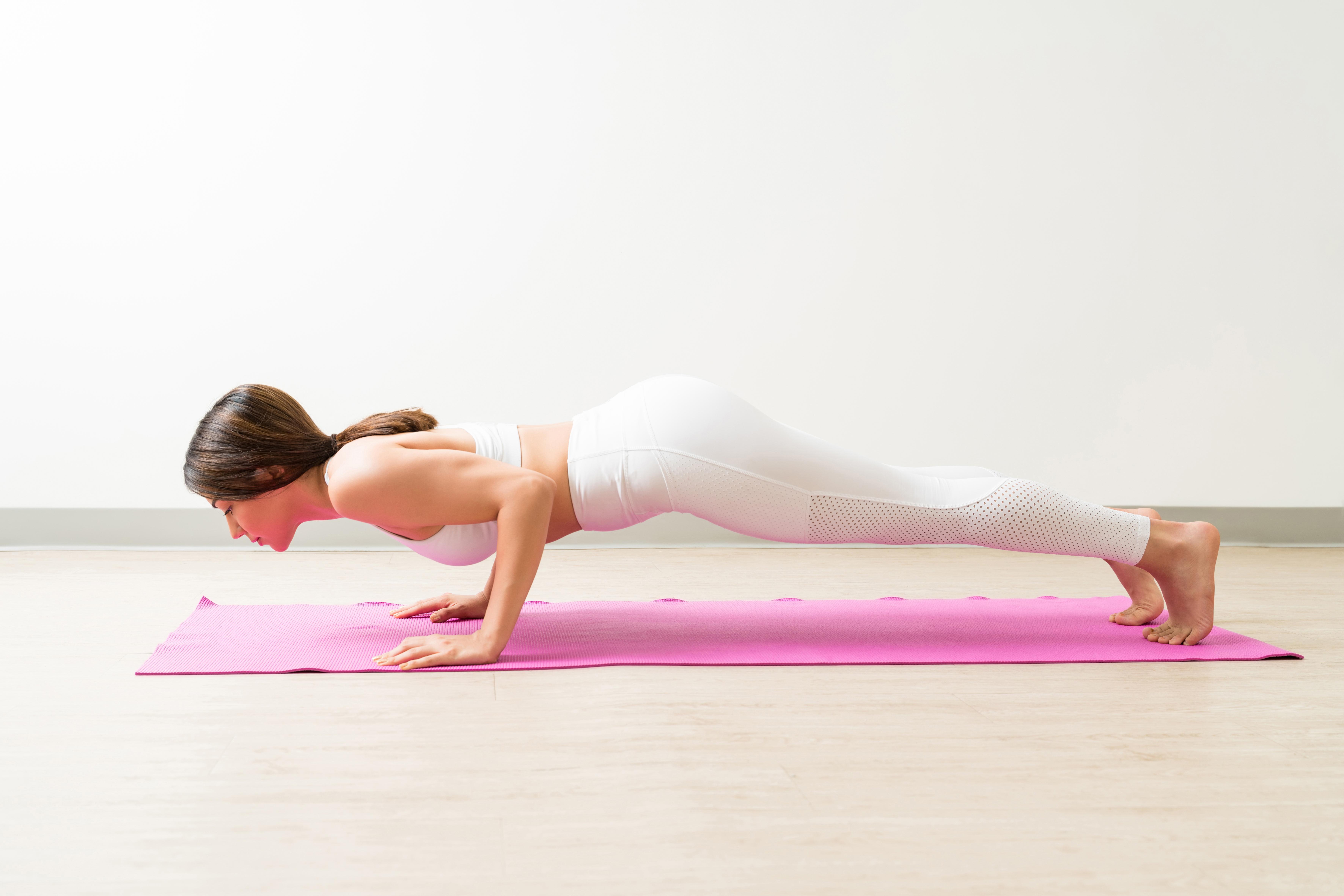 7.Low Plank/Chaturanga Dandasana