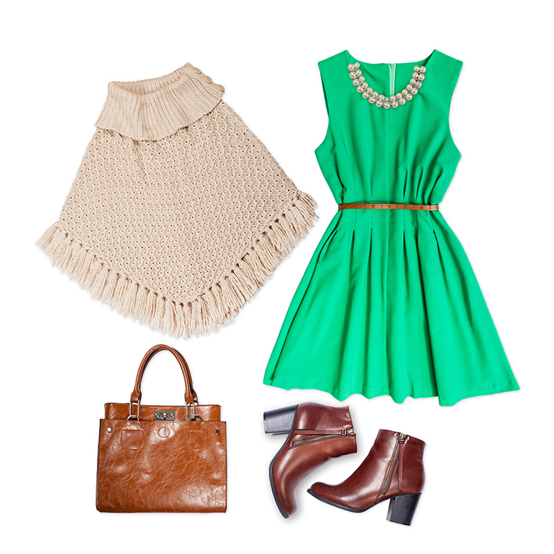 Poncho Top With Dress