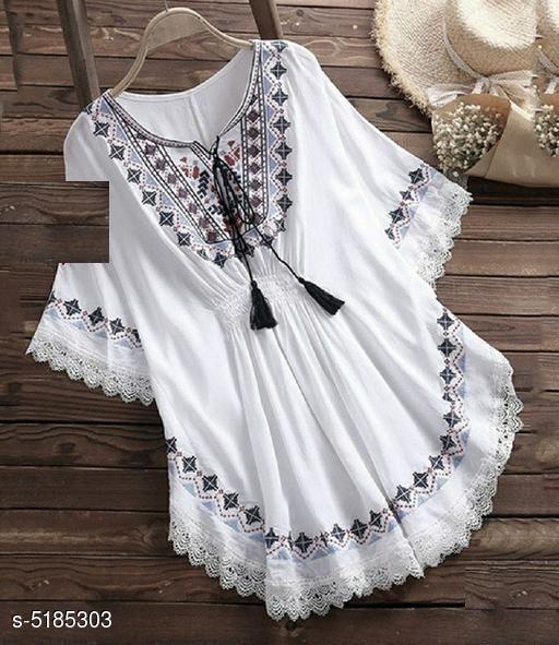 White Tunic Style Holi Kurti