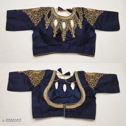 Threadwork round neck blouse