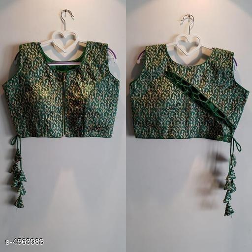 Criss cross olive blouse back design