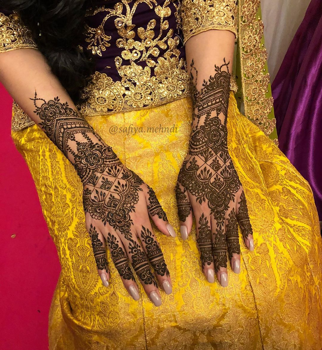Eid Back Hand Mehndi Designs