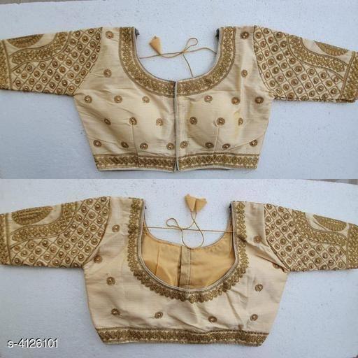 Half Sleeves Blouse Design