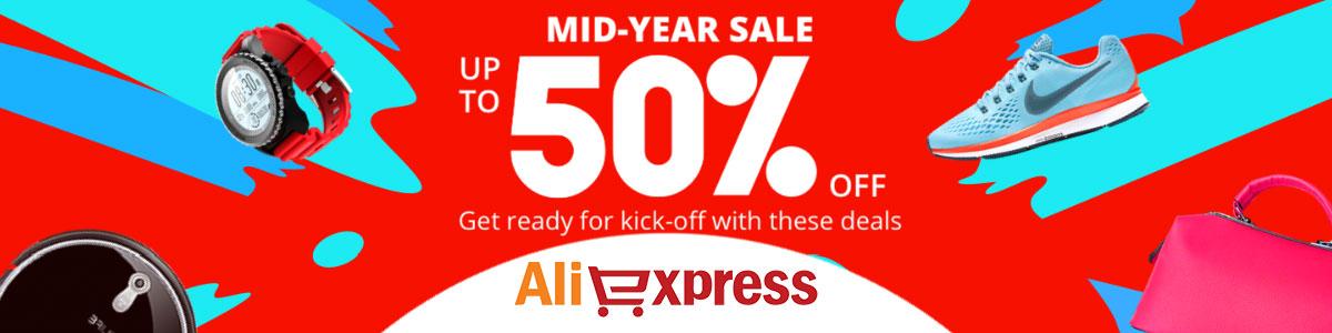 Aliexpress ali mid year midyear sale