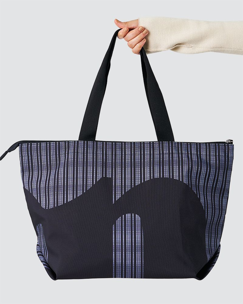 CASUAL SHOPPER BAG - BLACK