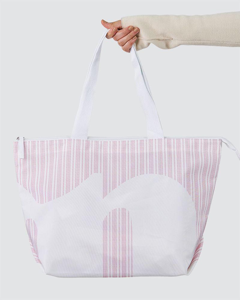 CASUAL SHOPPER BAG - DUSTY PINK