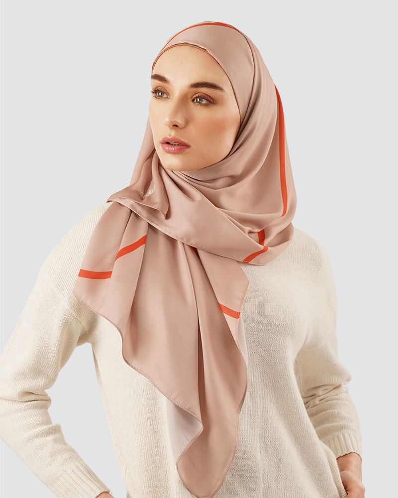 GO FAR LIBERTE - MEDIUM CREAM-ORANGE (SHAWL)
