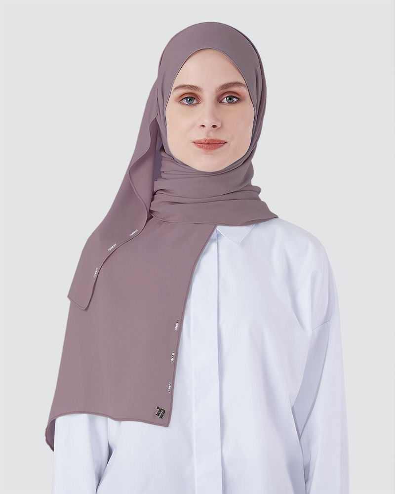 LIYA SHAWL - MEDIUM DUSTY MAUVE-PURPLE