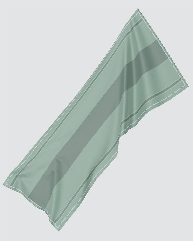 AIRI PRINTED SHAWL - BRIGHT PASTEL GREEN-CYAN