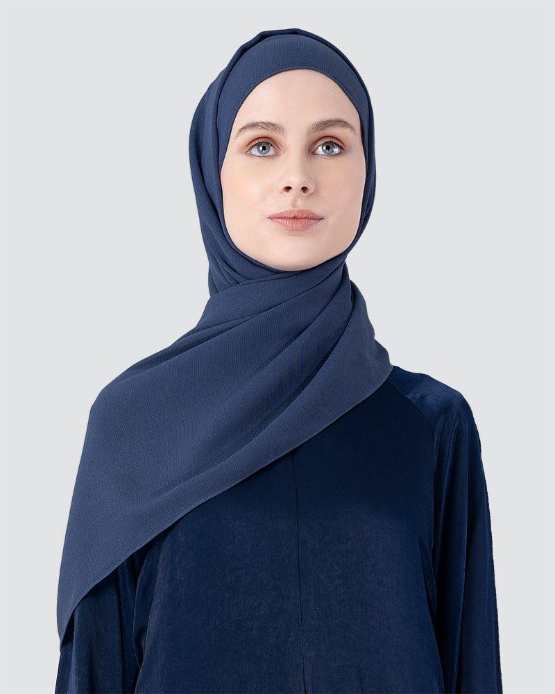 MILDA SHAWL - DARK PEACOAT BLUE
