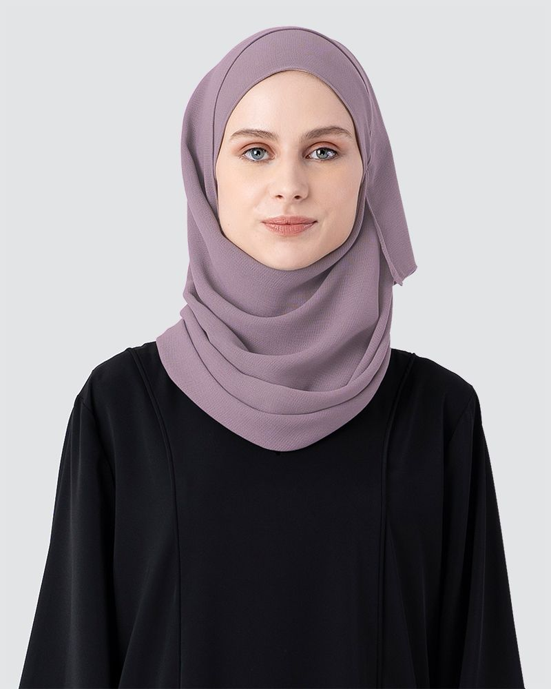 MILDA SHAWL - MEDIUM DUSTY MAUVE-PURPLE