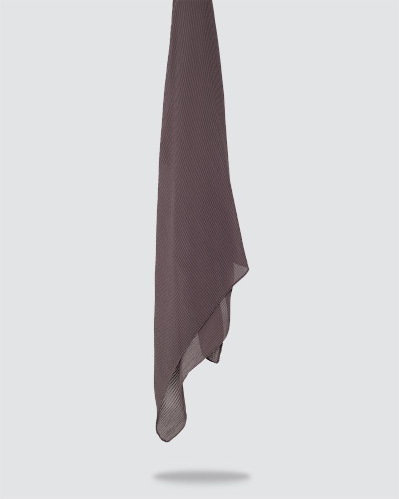 PLIKA SHAWL - MEDIUM BROWN MAUVE