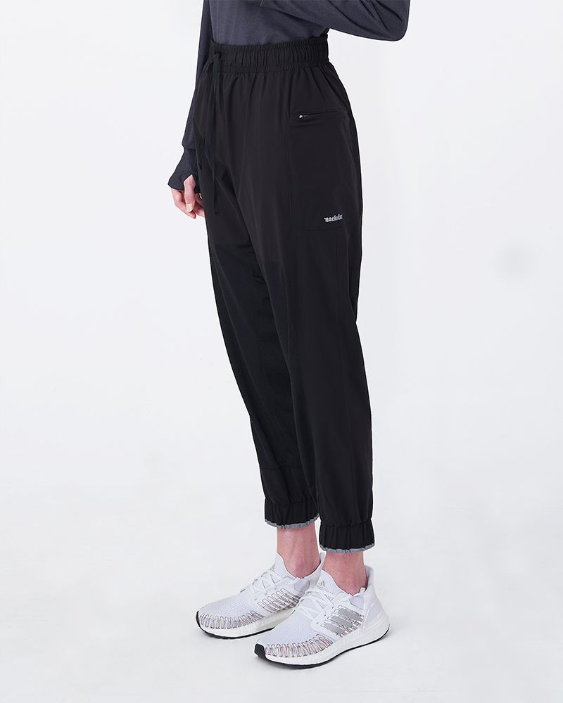 NYLON TRACK PANTS - BLACK