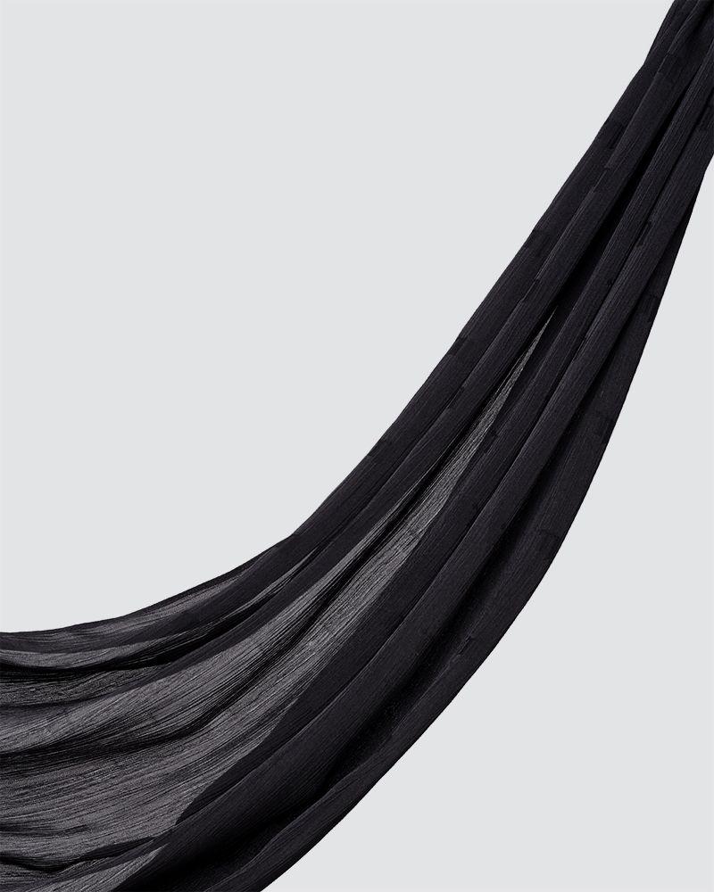 MODA WOVEN SHAWL - BLACK