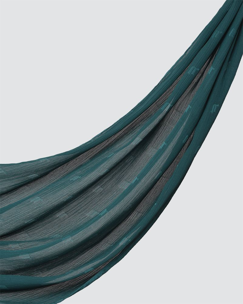 MODA WOVEN SHAWL - MEDIUM GREEN-TEAL