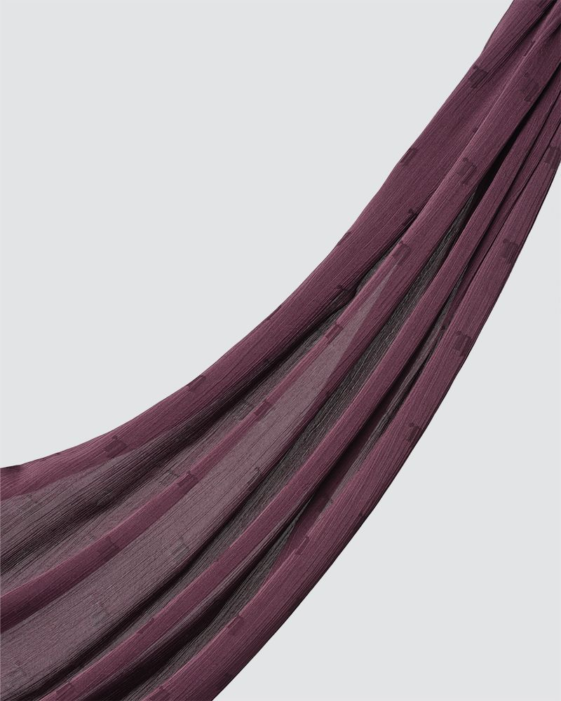 MODA WOVEN SHAWL - SMOKEY DARK PURPLE