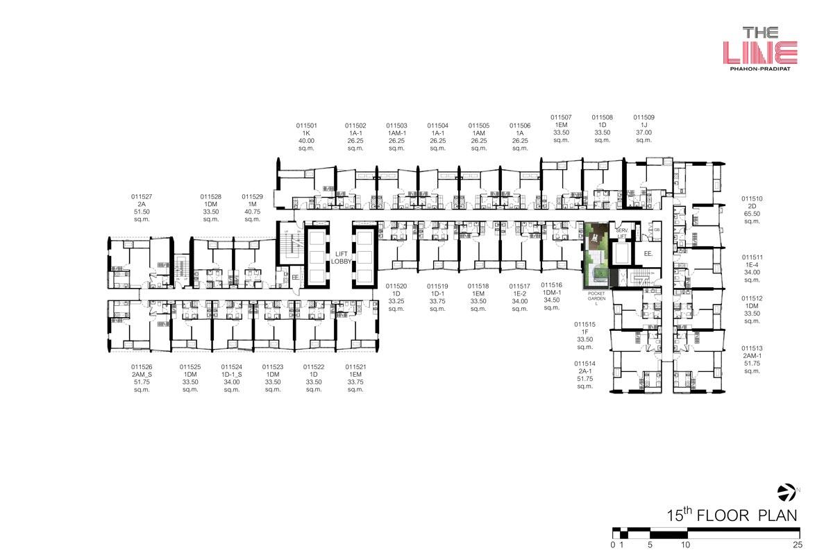 คอนโดมิเนียม เดอะ ไลน์ พหลฯ - ประดิพัทธ์ - Building A ชั้น 15
