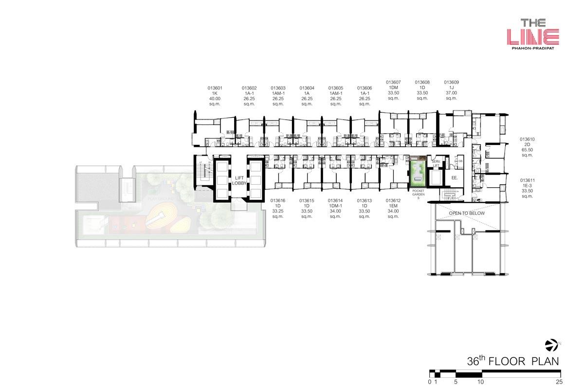 คอนโดมิเนียม เดอะ ไลน์ พหลฯ - ประดิพัทธ์ - Building A ชั้น 36