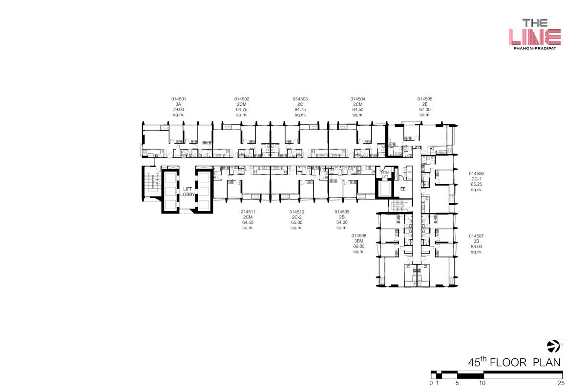 คอนโดมิเนียม เดอะ ไลน์ พหลฯ - ประดิพัทธ์ - Building A ชั้น 45