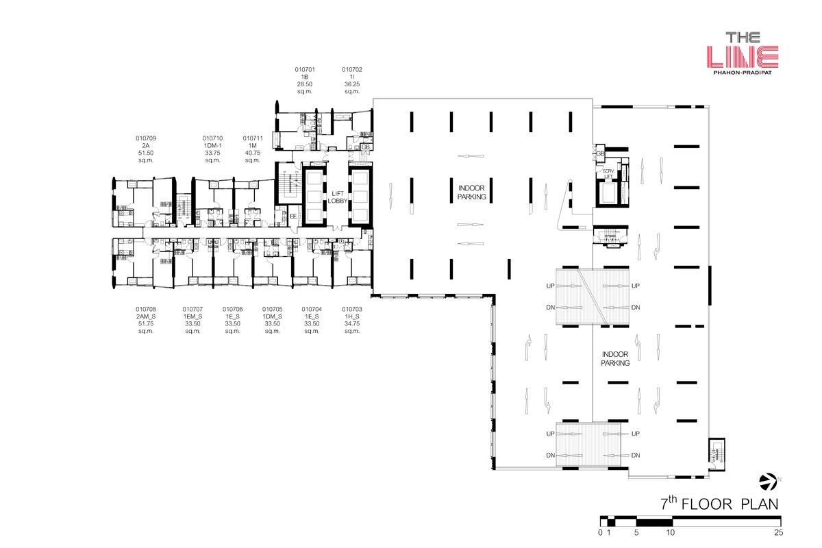 คอนโดมิเนียม เดอะ ไลน์ พหลฯ - ประดิพัทธ์ - Building A ชั้น 7