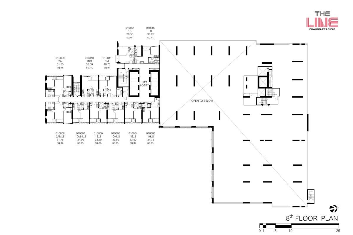 คอนโดมิเนียม เดอะ ไลน์ พหลฯ - ประดิพัทธ์ - Building A ชั้น 8