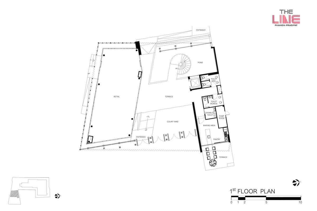 คอนโดมิเนียม เดอะ ไลน์ พหลฯ - ประดิพัทธ์ - Clubhouse ชั้น 1