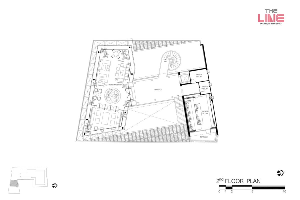 คอนโดมิเนียม เดอะ ไลน์ พหลฯ - ประดิพัทธ์ - Clubhouse ชั้น 2