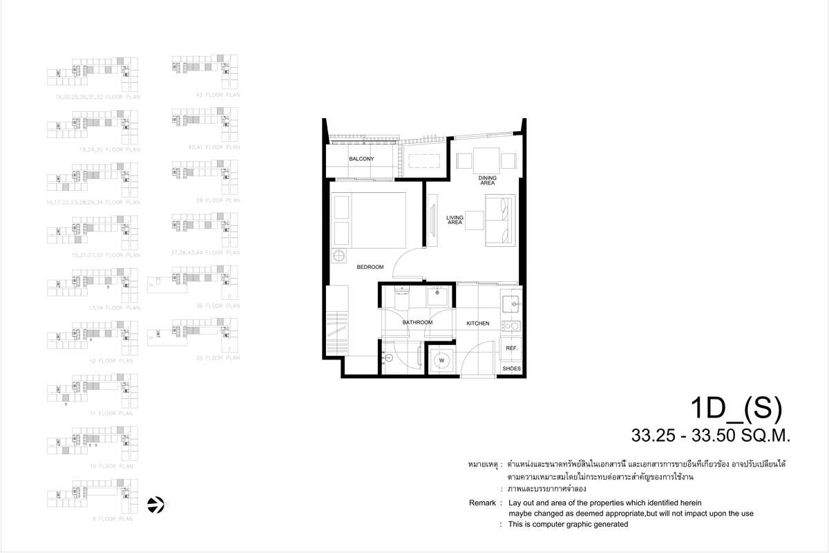 คอนโดมิเนียม เดอะ ไลน์ พหลฯ - ประดิพัทธ์ 1D_S