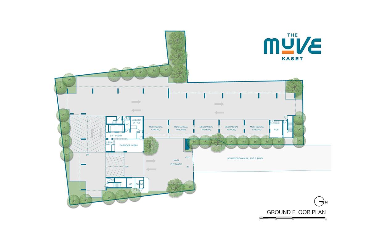คอนโดมิเนียม เดอะ มูฟ เกษตร - Ground Floor Plan