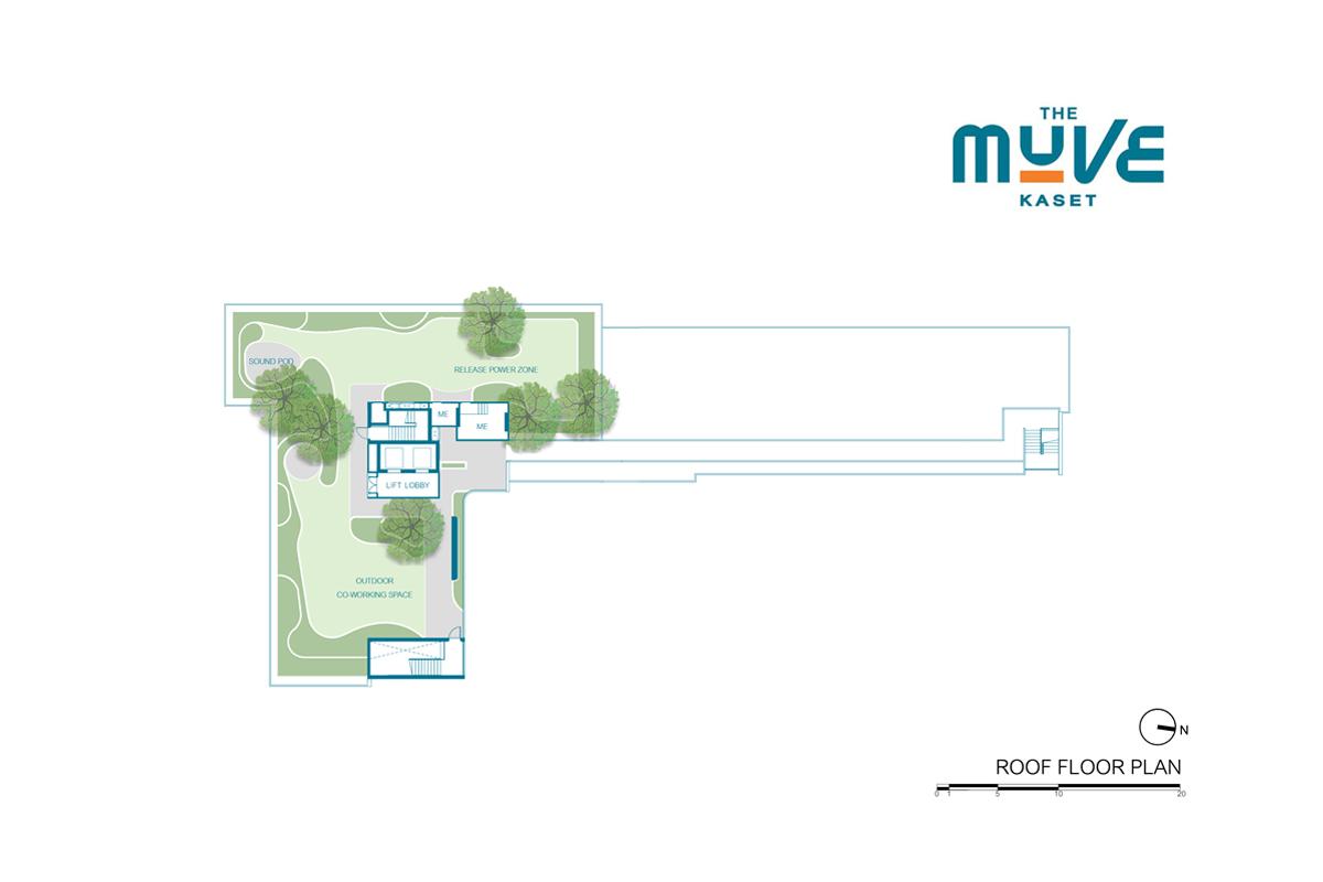 คอนโดมิเนียม เดอะ มูฟ เกษตร - Roof Floor Plan