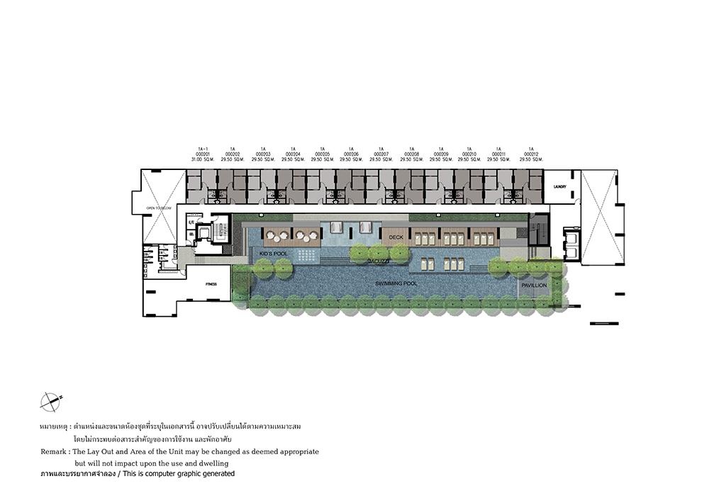 คอนโดมิเนียม เดอะ เบส ไฮท์ - อุดรธานี - Building A ชั้น 2