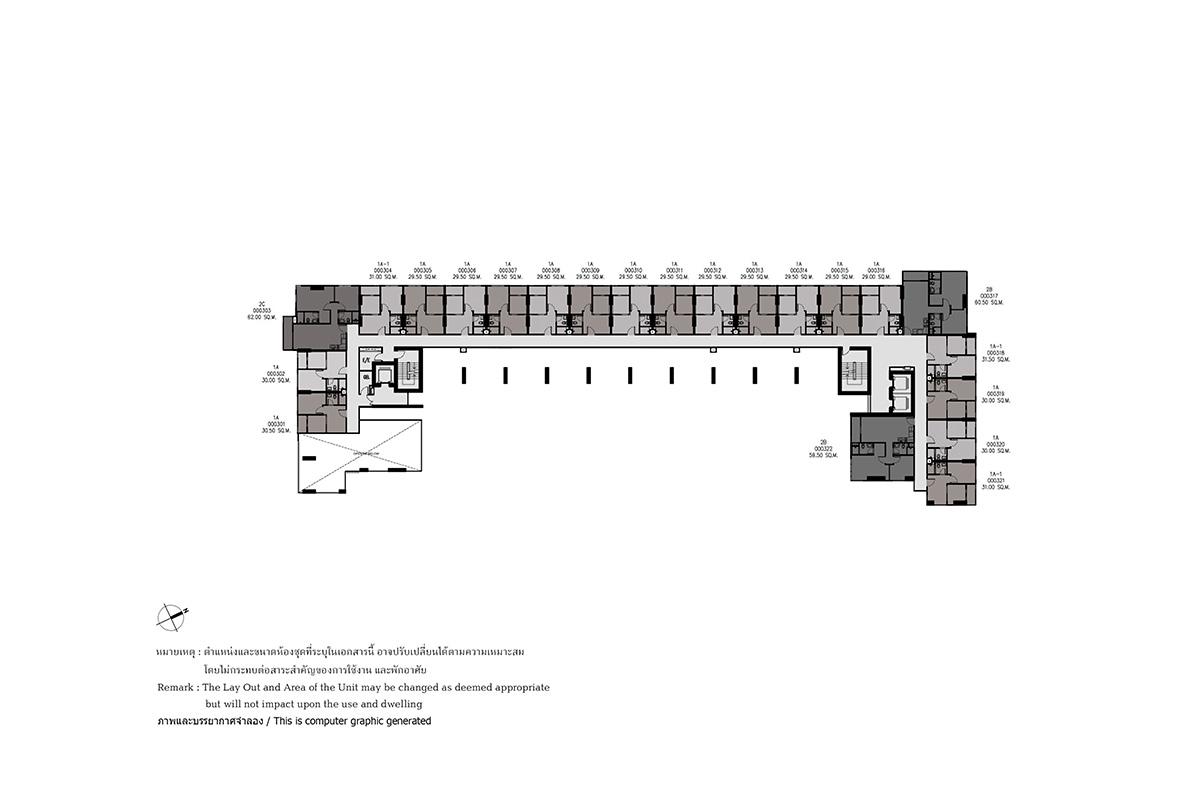 คอนโดมิเนียม เดอะ เบส ไฮท์ - อุดรธานี - Building A ชั้น 3