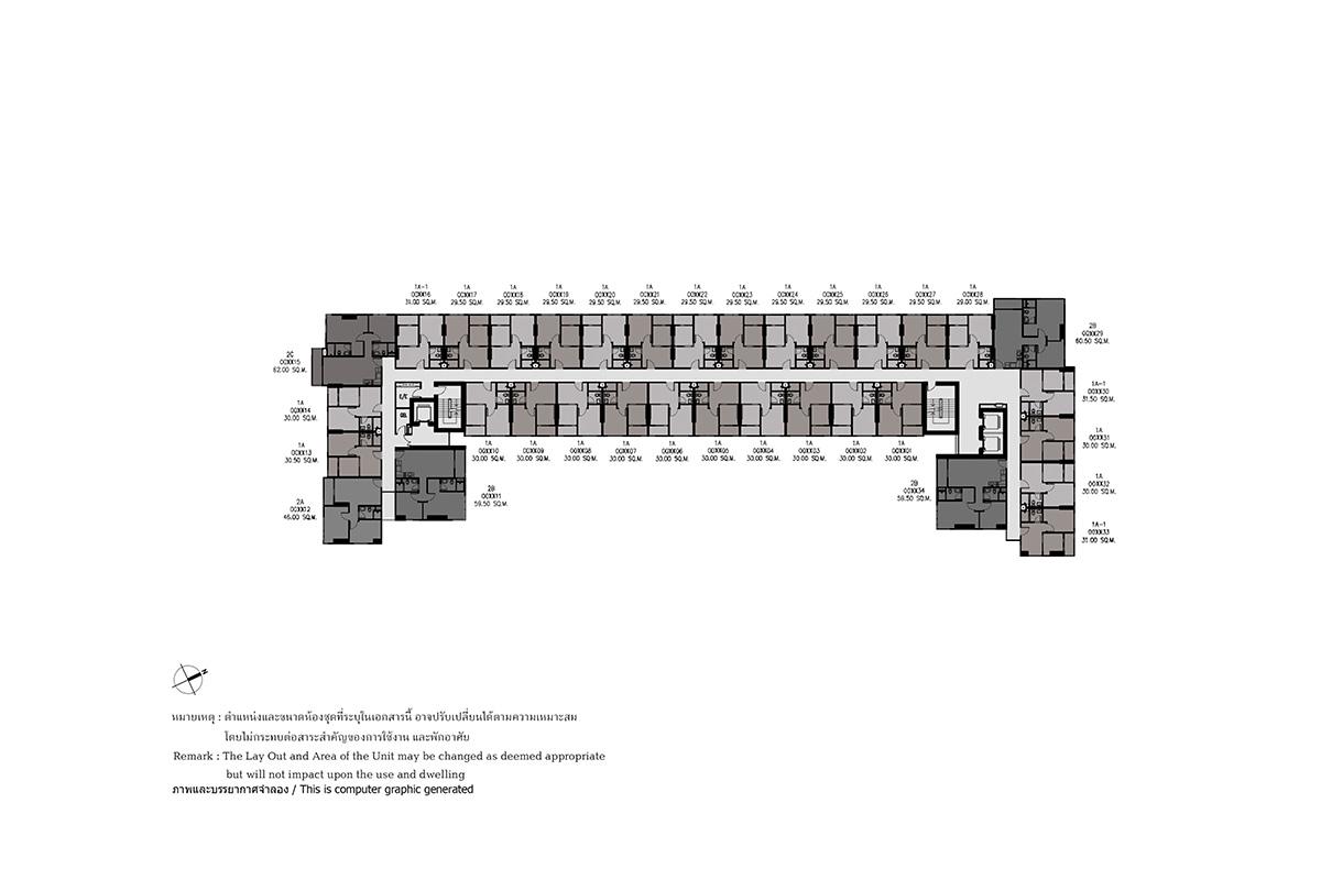คอนโดมิเนียม เดอะ เบส ไฮท์ - อุดรธานี - Building A ชั้น 4 - ชั้น 14