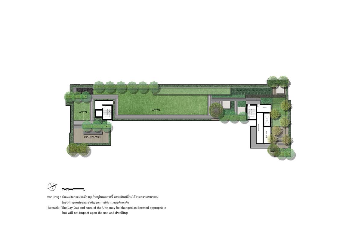 คอนโดมิเนียม เดอะ เบส ไฮท์ - อุดรธานี - Building A Roofplan