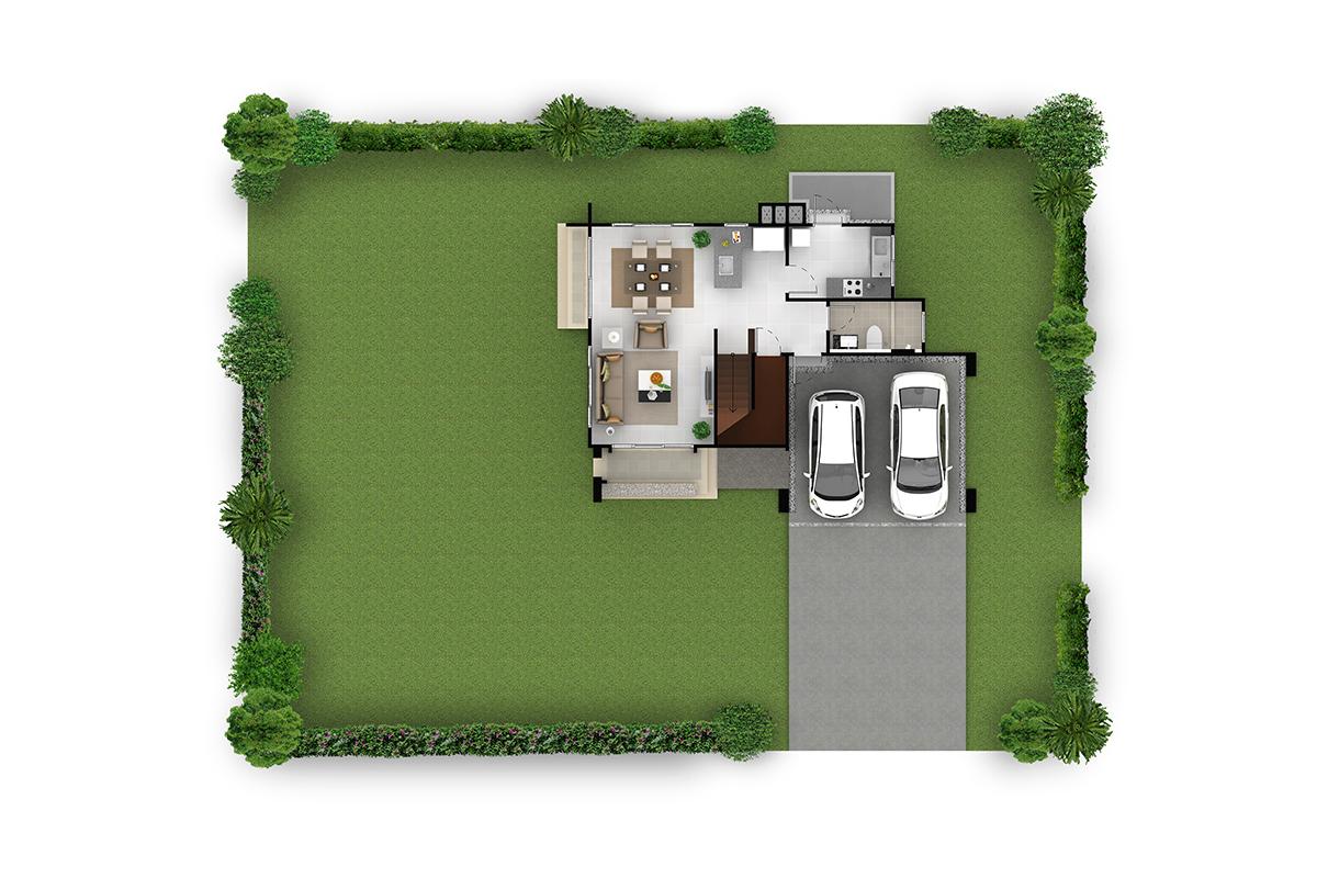 บ้านเดี่ยว ฮาบิเทีย พาร์ค เทียนทะเล 28 - HBP1   ชั้นล่าง