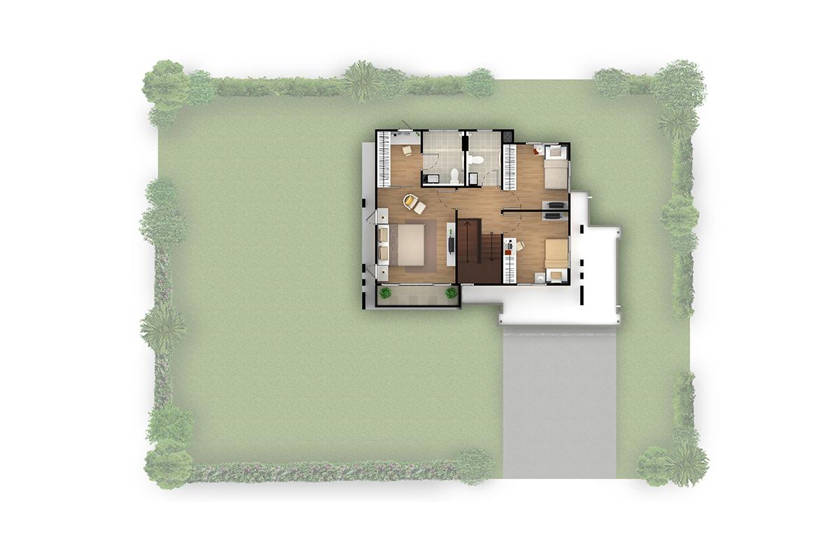 บ้านเดี่ยว ฮาบิเทีย พาร์ค เทียนทะเล 28 - HBP1 ชั้นบน