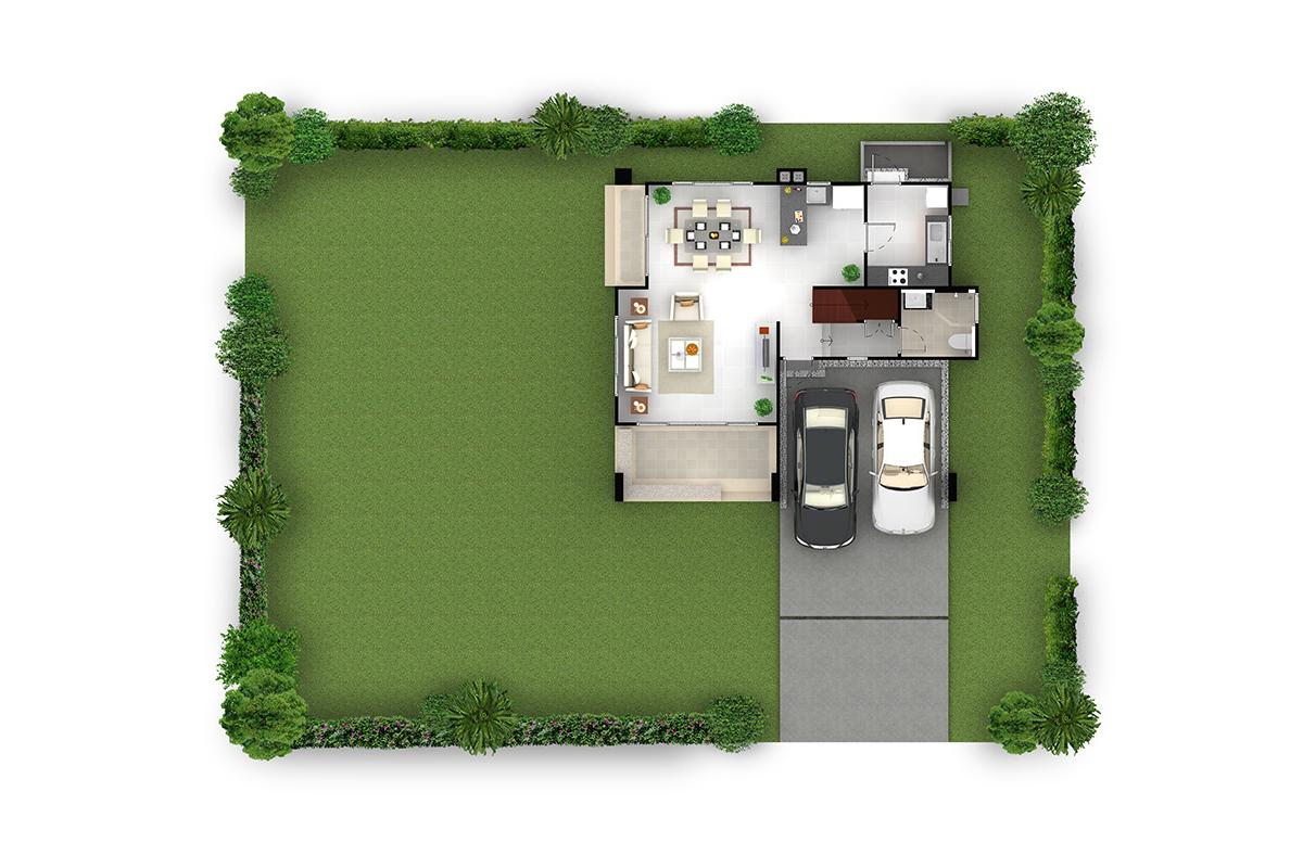 บ้านเดี่ยว ฮาบิเทีย พาร์ค เทียนทะเล 28 - HBP3   ชั้นล่าง