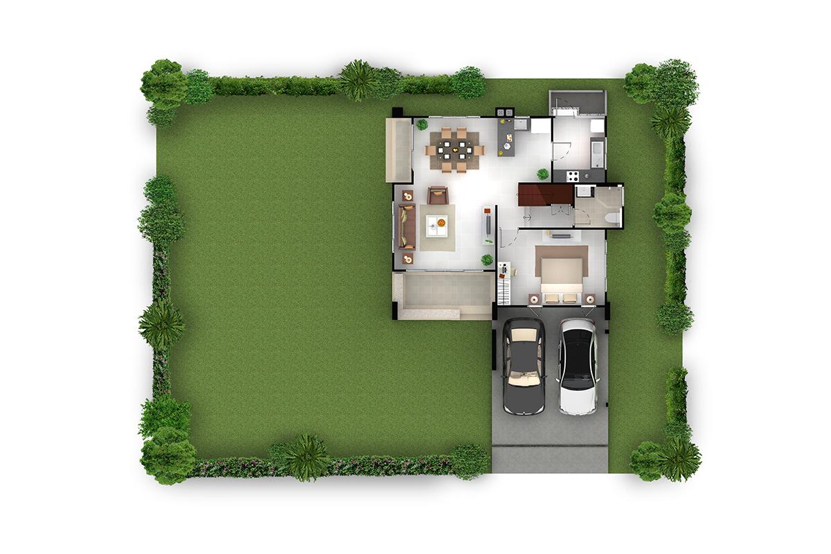 บ้านเดี่ยว ฮาบิเทีย พาร์ค เทียนทะเล 28 - HBP4   ชั้นล่าง