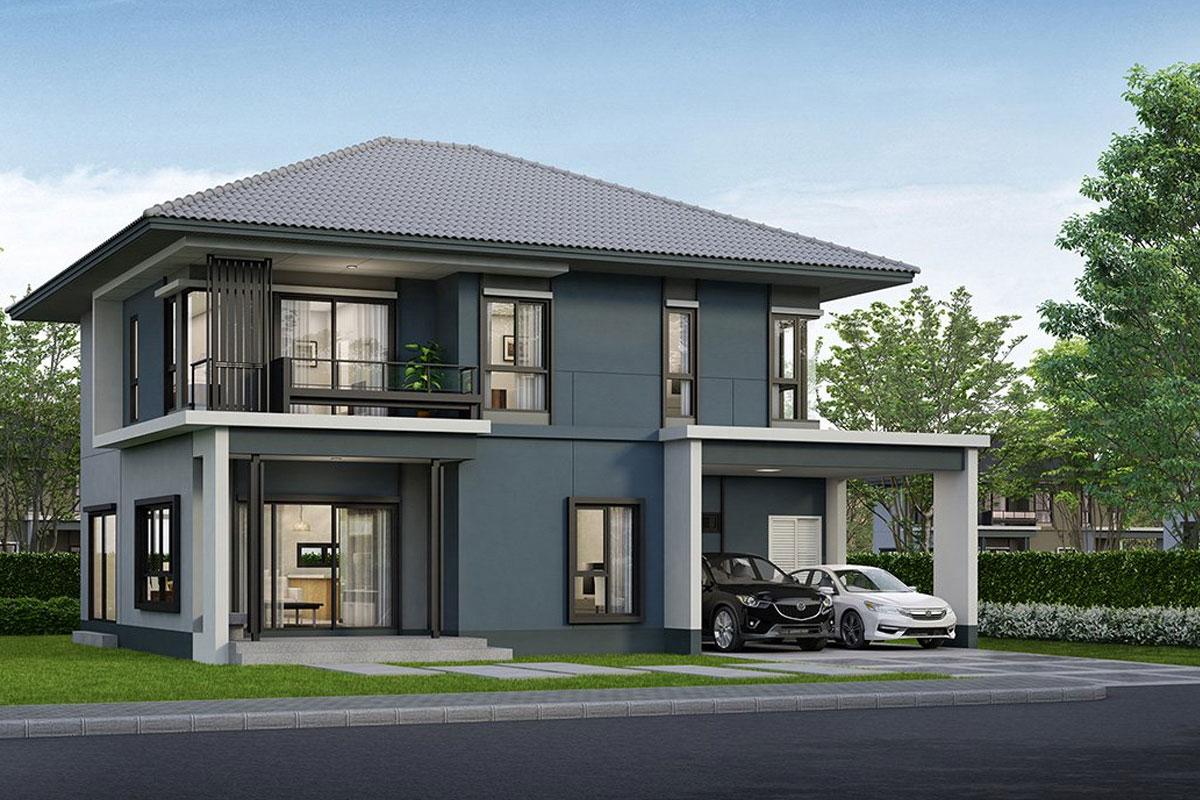 แบบบ้านสวย แบบบ้านสไตล์โมเดิร์น Kauri แบบบ้านครอบครัวใหญ่ แบบบ้านเพื่อผู้สูงอายุ