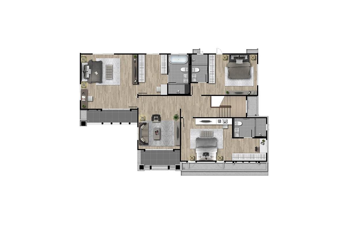 บ้านเดี่ยว นาราสิริ พระราม 2 - แบบบ้าน Edmund ชั้น 2