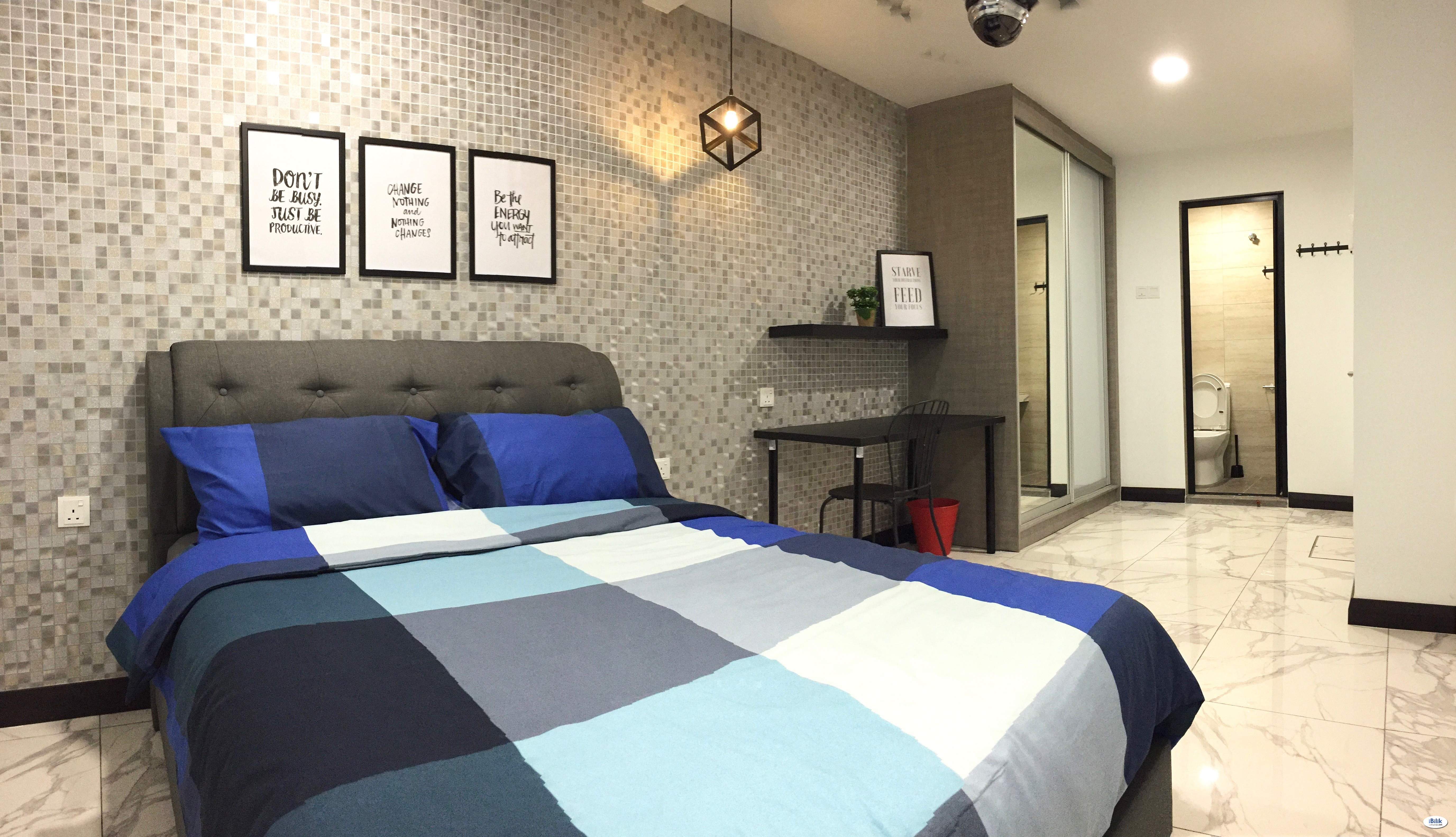 Syed Putra (Mid Valley), New, Nice & Interior Designed Fully Furnished MASTER Room + Private Attached Bathroom (inclusive Utilities & WiFi)