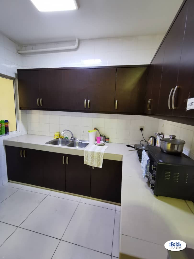 Male unit, FREE Utility, Wifi, Cleanning, Fully Furnished, Walking to MRT @ Cova Suites Kota Damansara