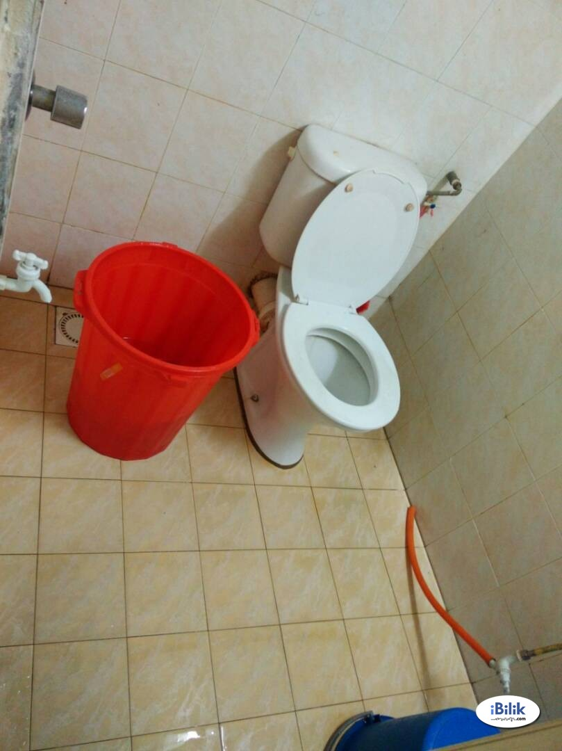 Master Room utk LELAKI attached Toilet include Utilities