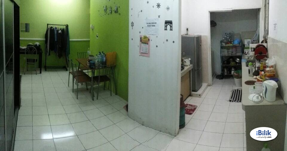 Sharing Room Fully Furnished FREE wifi perempuan sahaja
