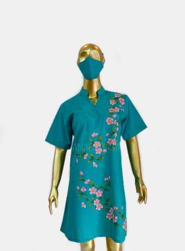 DRESS CHEONGSAM_SAKURA_BIRU TOSCA