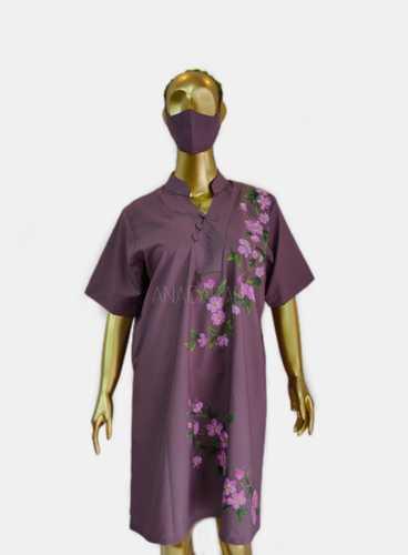 DRESS CHEONGSAM_SAKURA_UNGU DUSTY