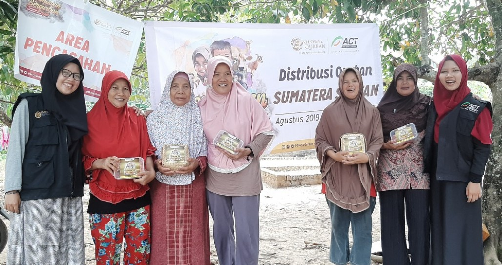 The Distribution of Qurbani Meats Reached Some Remote Areas in South Sumatra' photo