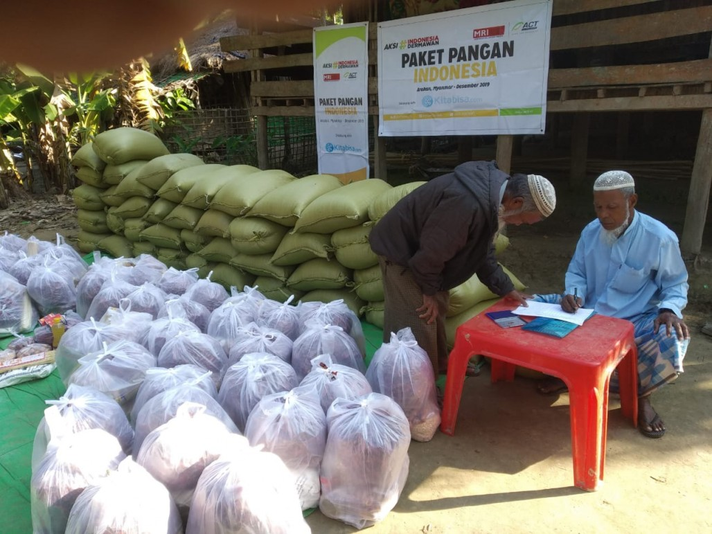 Another Food Distribution Reaches the Rohingyas in Myanmar' photo