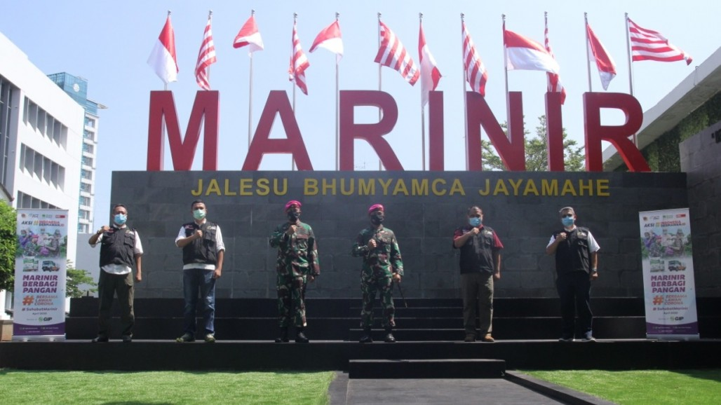 ACT and Indonesian Marine Corps Ready to Distribute 6 Tons of Rice