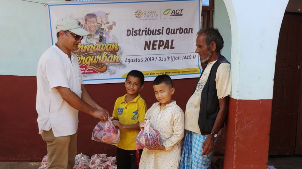 When Qurbani from Indonesia Reaches Gorkha District in Nepal' photo
